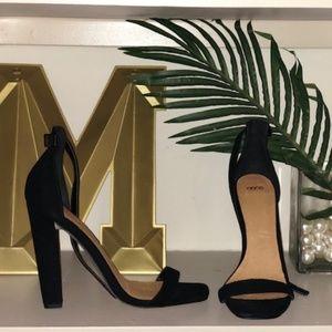 Classic Black Sandal Heels